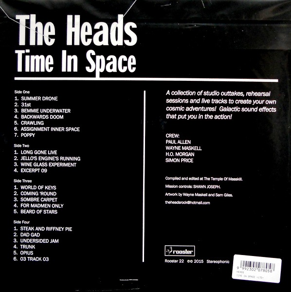HEADS, THE time in space LP back