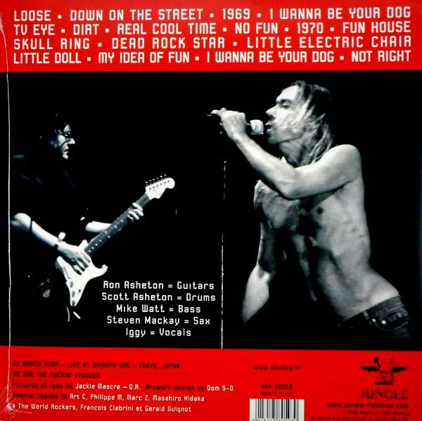 POP, IGGY AND THE STOOGES telluric chaos LP