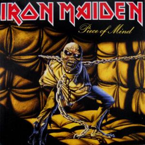 iron maiden piece of mind euro black vinyl lp