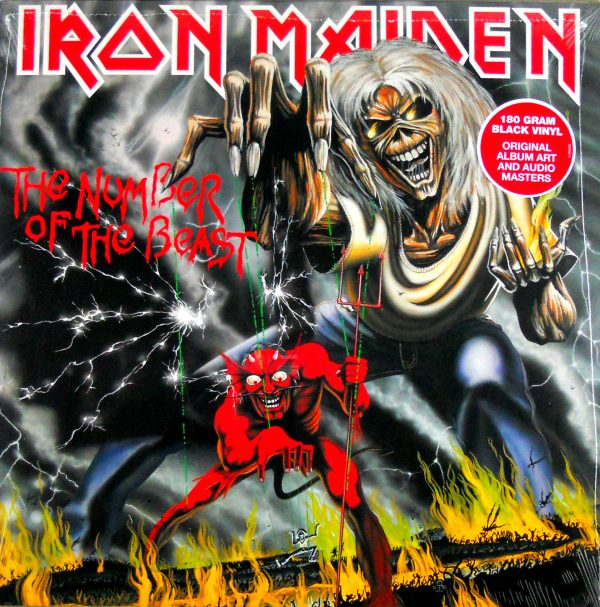 iron number of the beast black vinyl usa 2014 lp