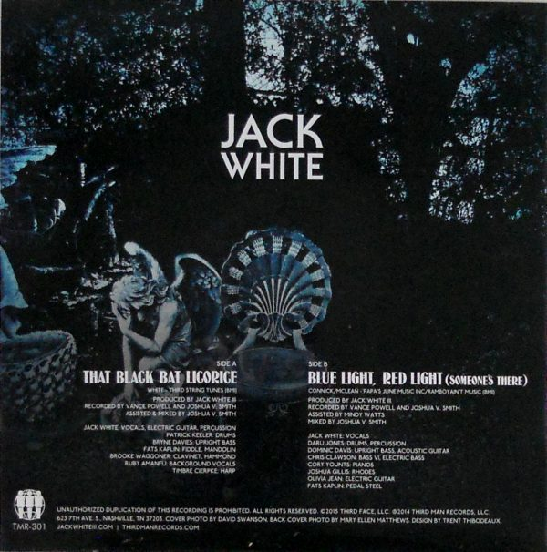 "JACK WHITE that black bat licorice 7"" inch back"