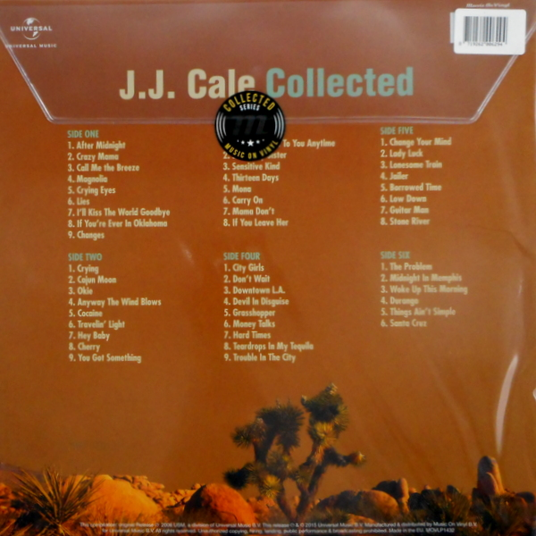 CALE, J.J. J.J. Cale collected LP