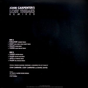 CARPENTER, JOHN lost themes remixed LP back