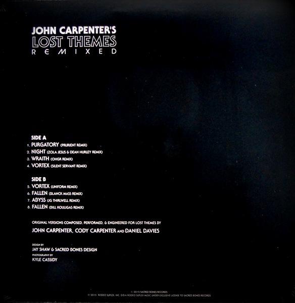 CARPENTER, JOHN lost themes remixed LP back