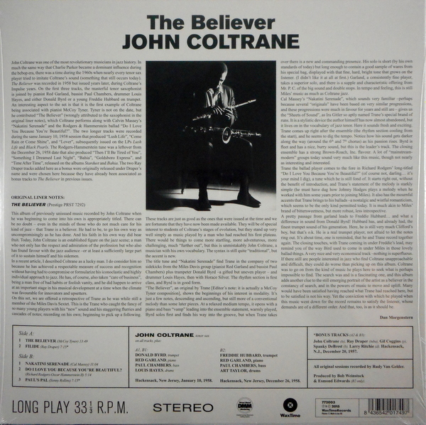 COLTRANE, JOHN the believer LP