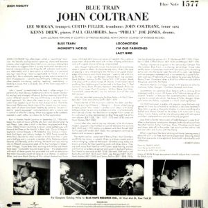 COLTRANE, JOHN blue train LP back
