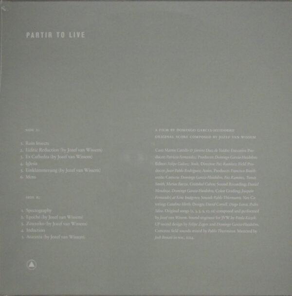 WISSEM, JOZEF VAN partir to live LP back