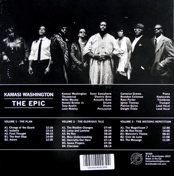 WASHINGTON, KAMASI the epic - box set LP back