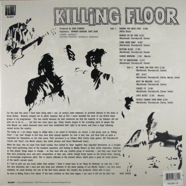 KILLING FLOOR self titled LP back