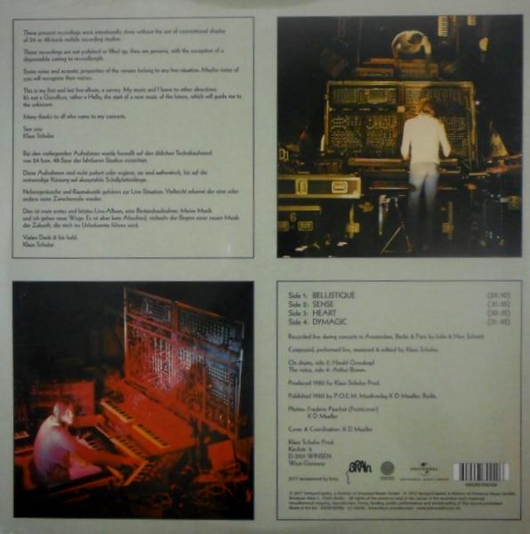 TANGERINE DREAM (KLAUS SCHULZE) klaus schulze live LP