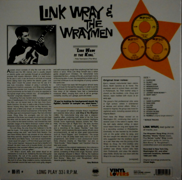 WRAY, LINK & THE WRAYMEN link wray & the wraymen LP