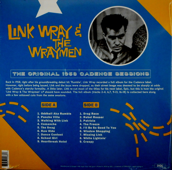 WRAY, LINK & THE WRAYMEN the original 1958 cadence sessions LP