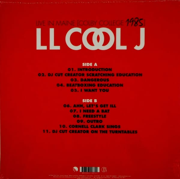 LL COOL J live in maine 1985 LP