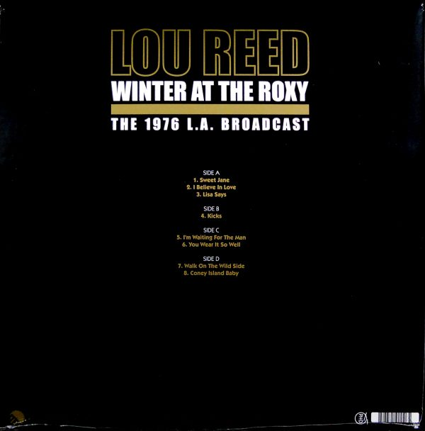 lou reed winter at the roxy lp