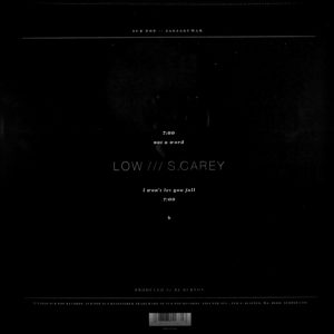 LOW & S CAREY not a word 10""