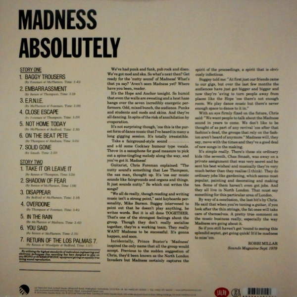 MADNESS absolutely LP