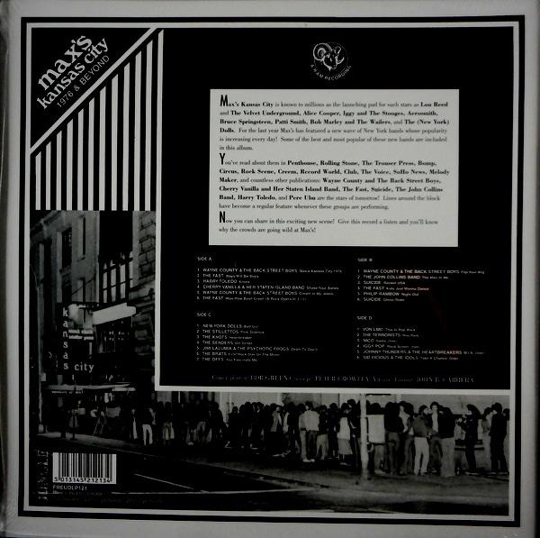 VARIOUS ARTISTS max's kansas city - 1976 and beyond LP
