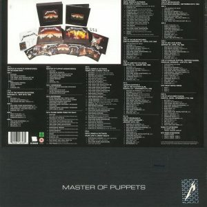 METALLICA master of puppets - deluxe box set LP