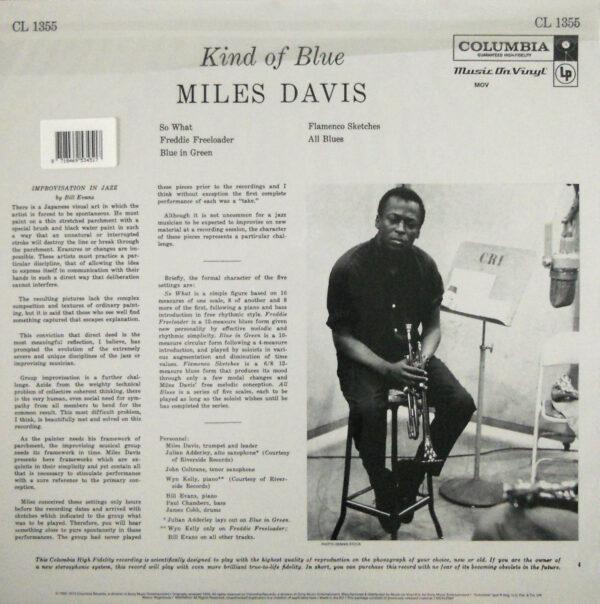 DAVIS, MILES kind of blue LP back