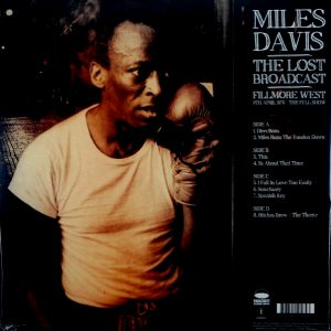 DAVIS, MILES the lost broadcast LP