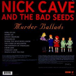 CAVE, NICK & THE BAD SEEDS murder ballads LP back