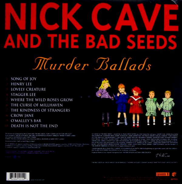 CAVE, NICK & THE BAD SEEDS murder ballads LP back