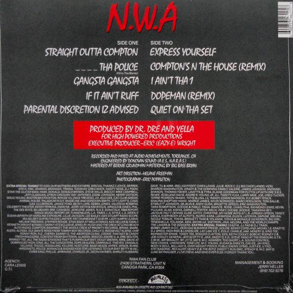 N.W.A. straight outta compton LP back
