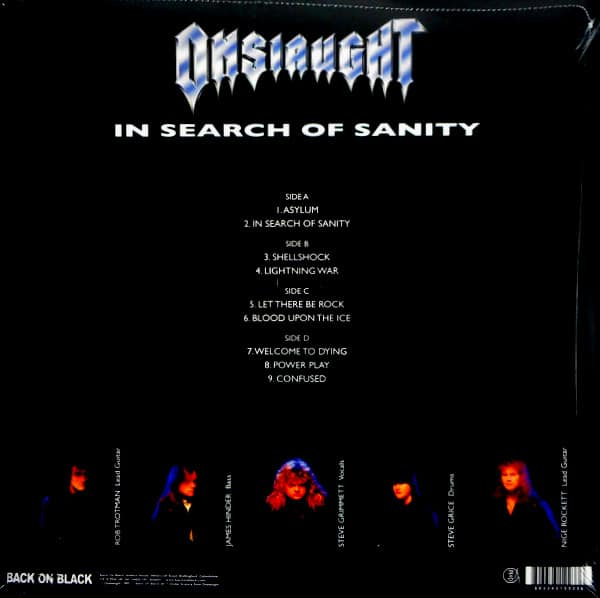 ONSLAUGHT in search of sanity LP