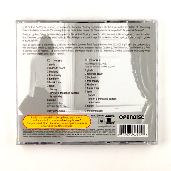 SMITH, PATTI horses - deluxe cd back