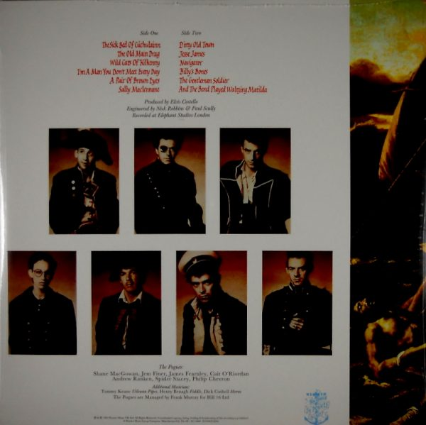POGUES, THE rum sodomy & the lash LP back