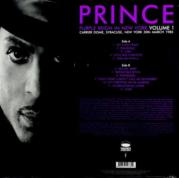 PRINCE purple reign in new york - vol 1 LP