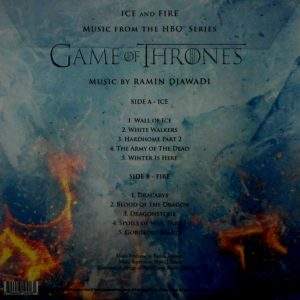 DJAWADI, RAMIN game of thrones - ice and fire - pic disc LP
