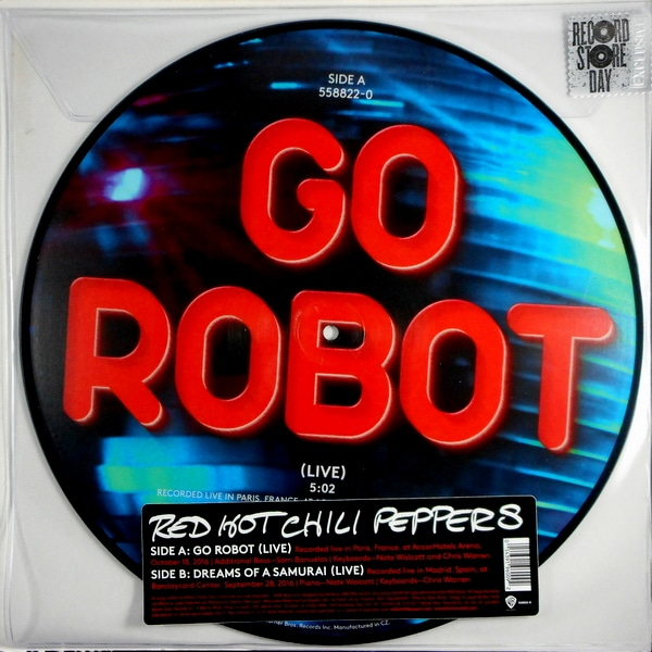"""RED HOT CHILI PEPPERS go robot (live) 12"""""""