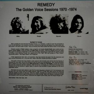 REMEDY the golden voice sessions 1970-74 LP