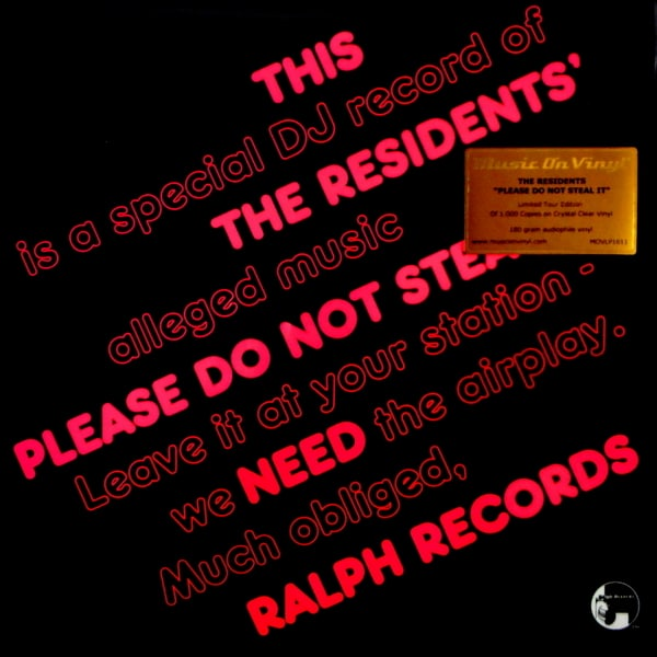 RESIDENTS, THE please do not steal it - col vinyl LP