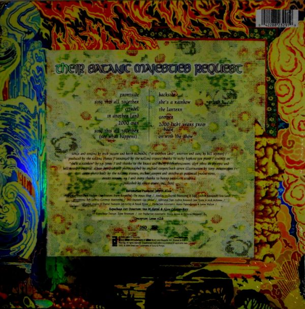 ROLLING STONES, THE their satanic majesties request LP back