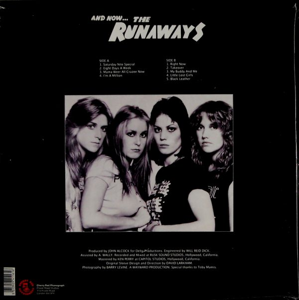 RUNAWAYS, THE and now…the runaways LP back