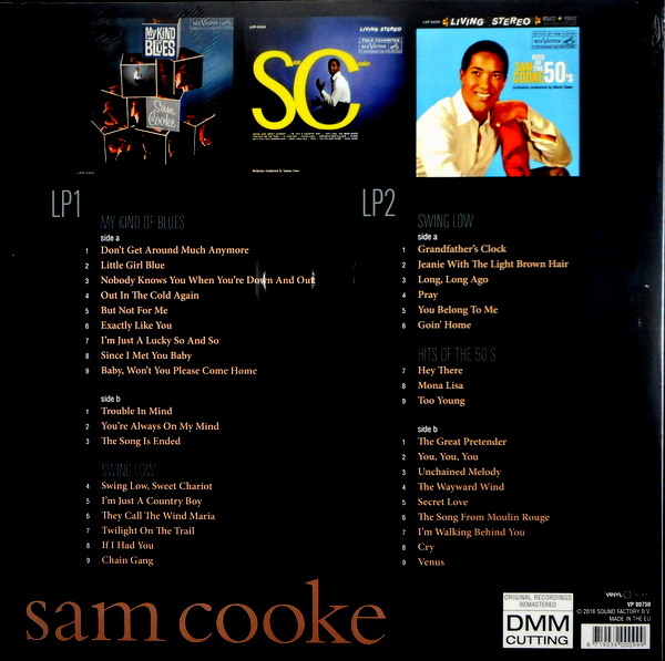 COOKE, SAM my kind of blues/swing low/hits of the 50's LP