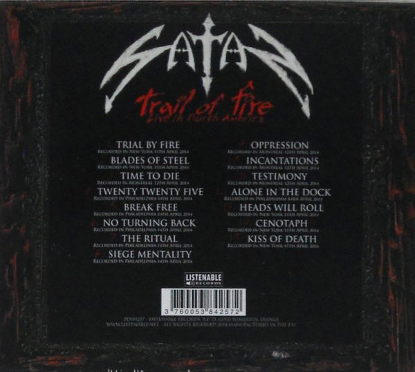 satan trail of fire cd