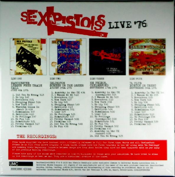 SEX PISTOLS live '76 - cd box set CD