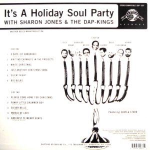 JONES, SHARON & THE DAP-KINGS it's a holiday soul party LP back