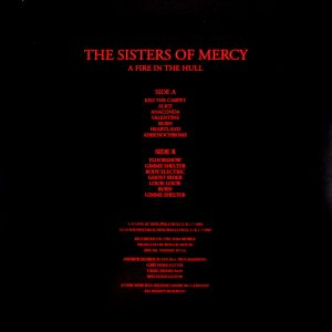 SISTERS OF MERCY, THE a fire in the hull - orange vinyl LP