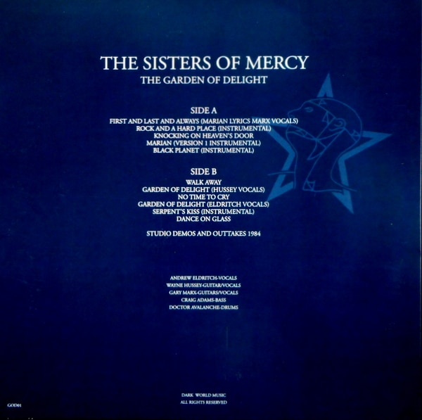 SISTERS OF MERCY, THE the garden of delight - green vinyl LP