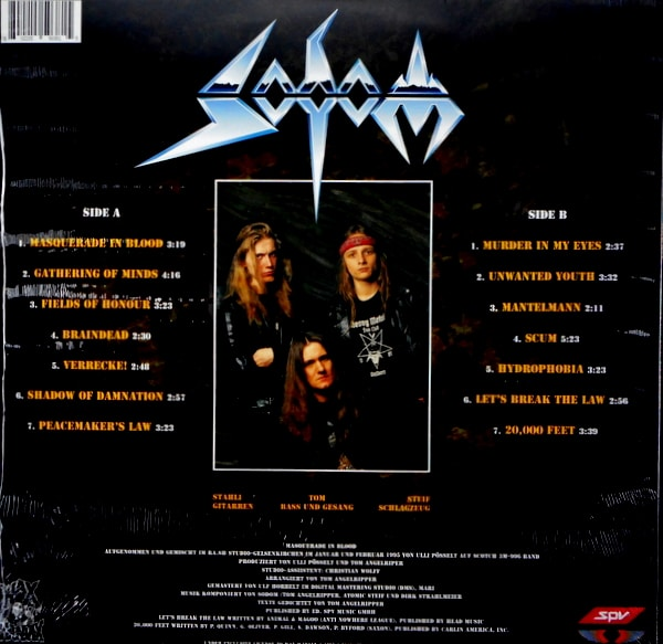 SODOM masquerade in blood LP