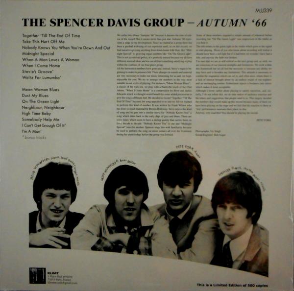 SPENCER DAVIS GROUP, THE autumn '66 LP