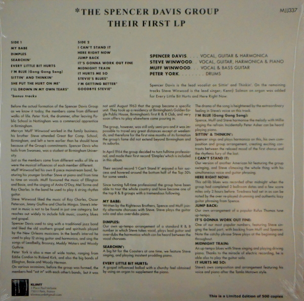 SPENCER DAVIS GROUP, THE the first LP LP