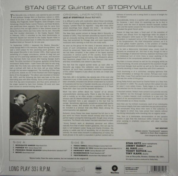 GETZ, STAN jazz at storyville LP
