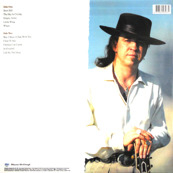VAUGHAN, STEVIE RAY the sky is crying LP back