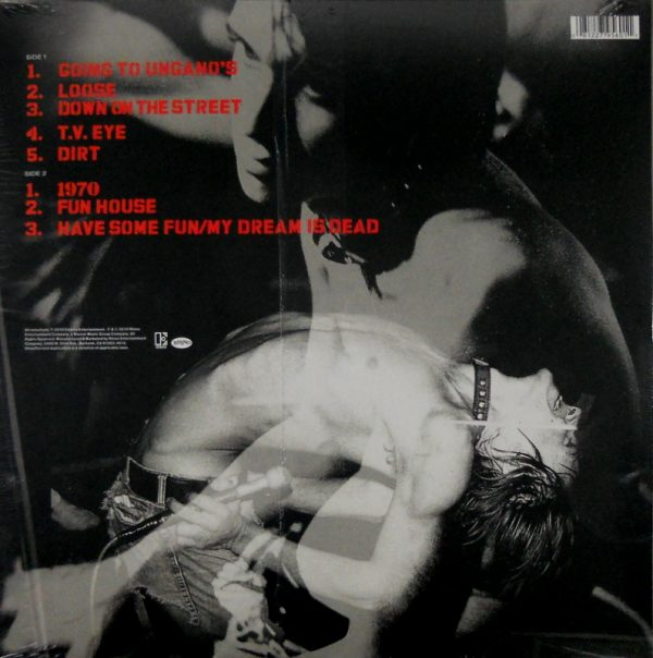 IGGY AND THE STOOGES have some fun - live at ungano's LP back