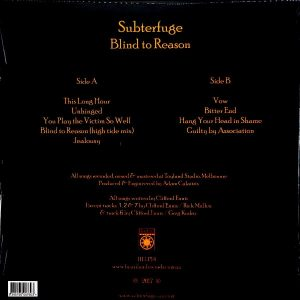 SUBTERFUGE blind to reason LP